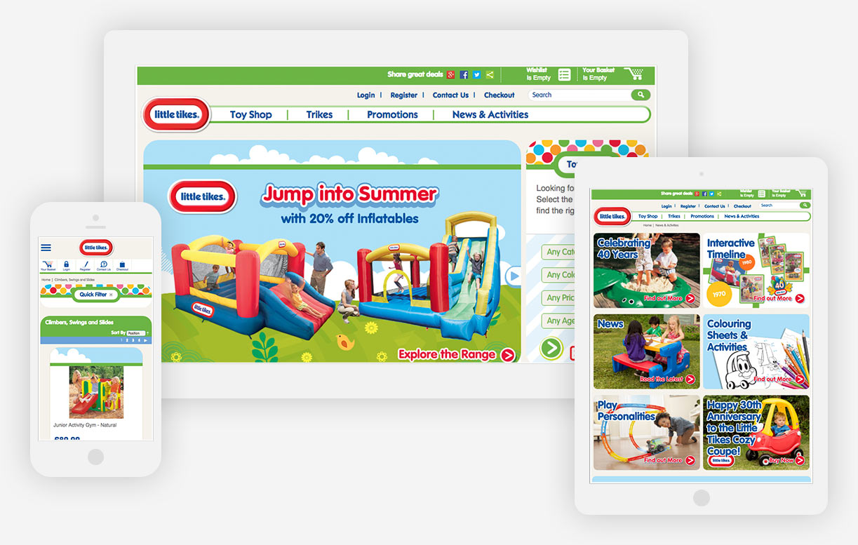 Little Tikes website all devices.