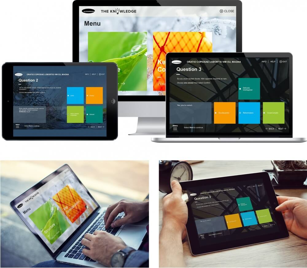 Bringing bold designs to corporate learning.