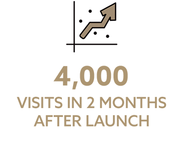 4,000 visits in 2 months after launch