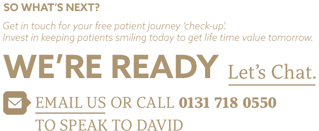 Let's chat. Email us or call 01317180550 to speak to David.