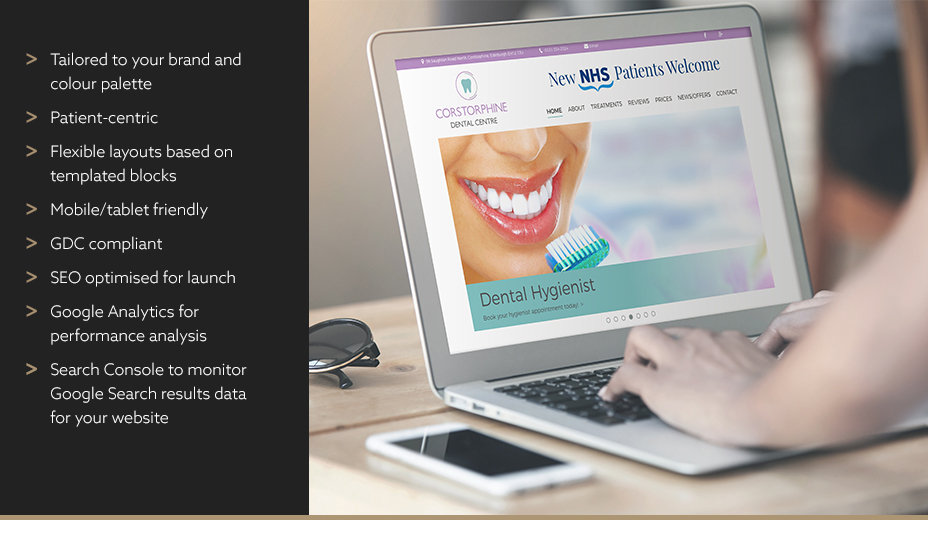 A specialist dental site that's attractive, intuitive and full of content.